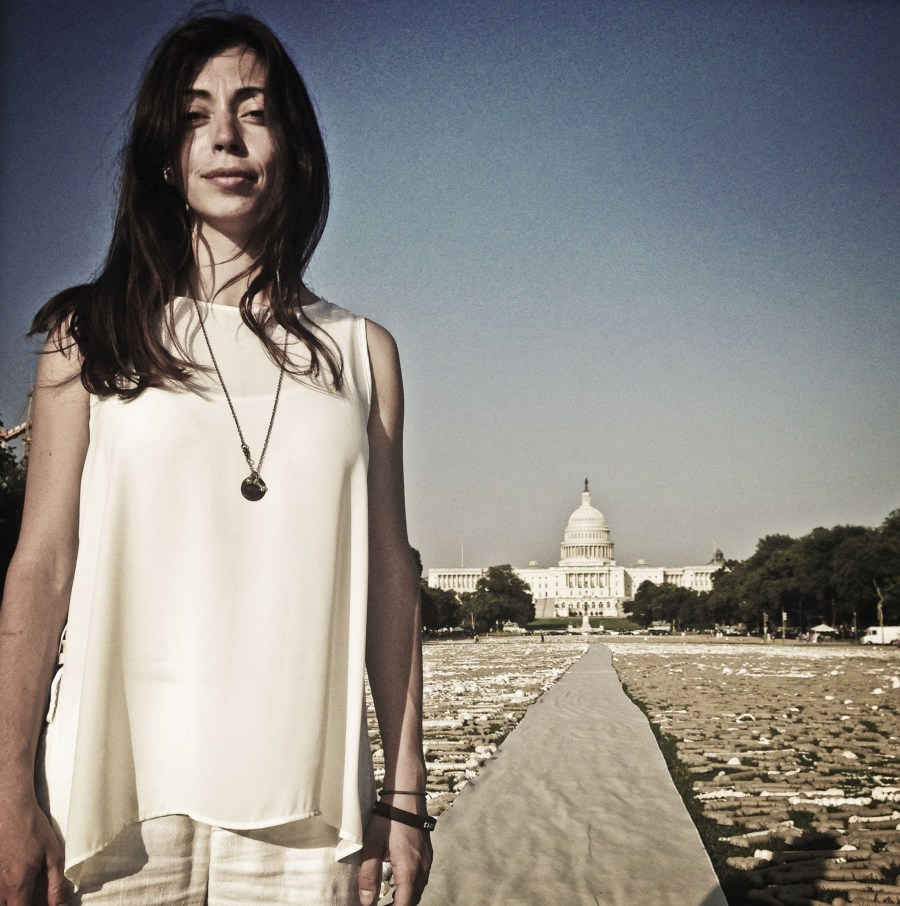 TED Fellow Naomi Natale lays One Million Bones on the National Mall
