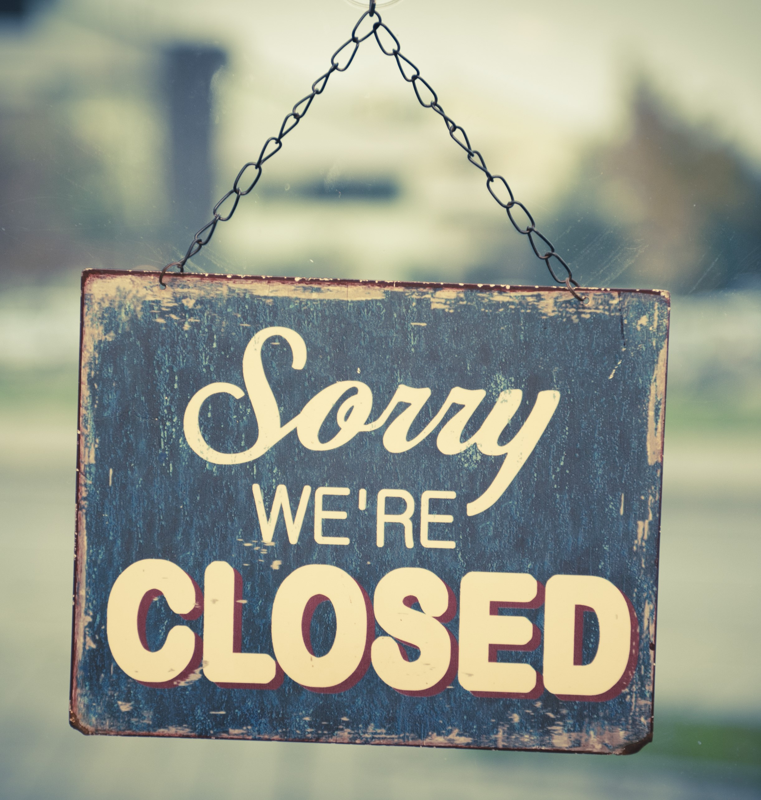 Closed for the Bank Holiday