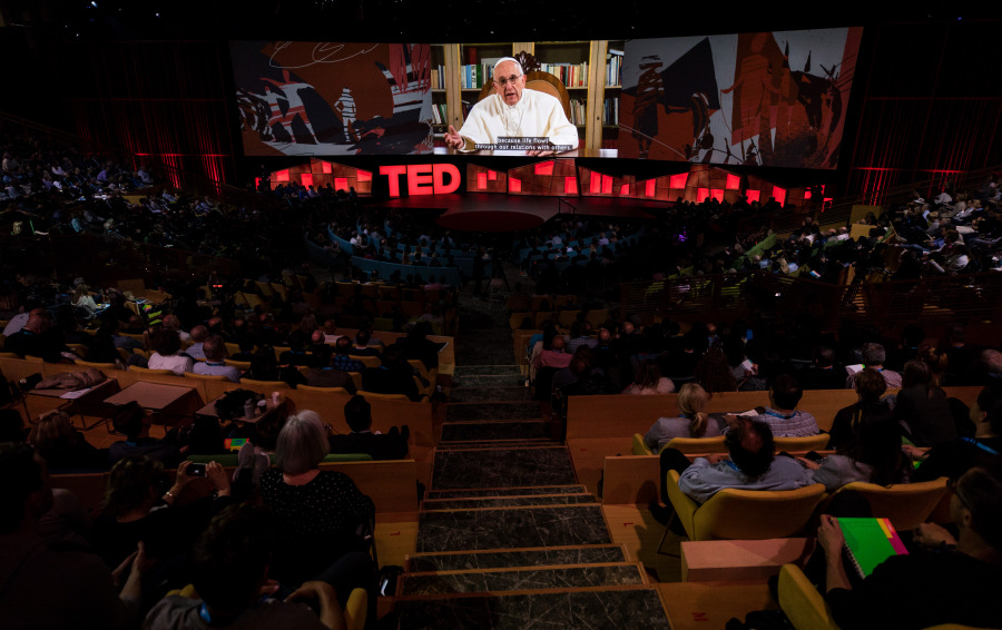 The making of His Holiness Pope Francis's TED Talk