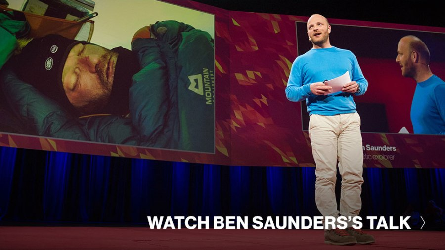 Ben Saunders' solo crossing of Antarctica, and more news from TED speakers